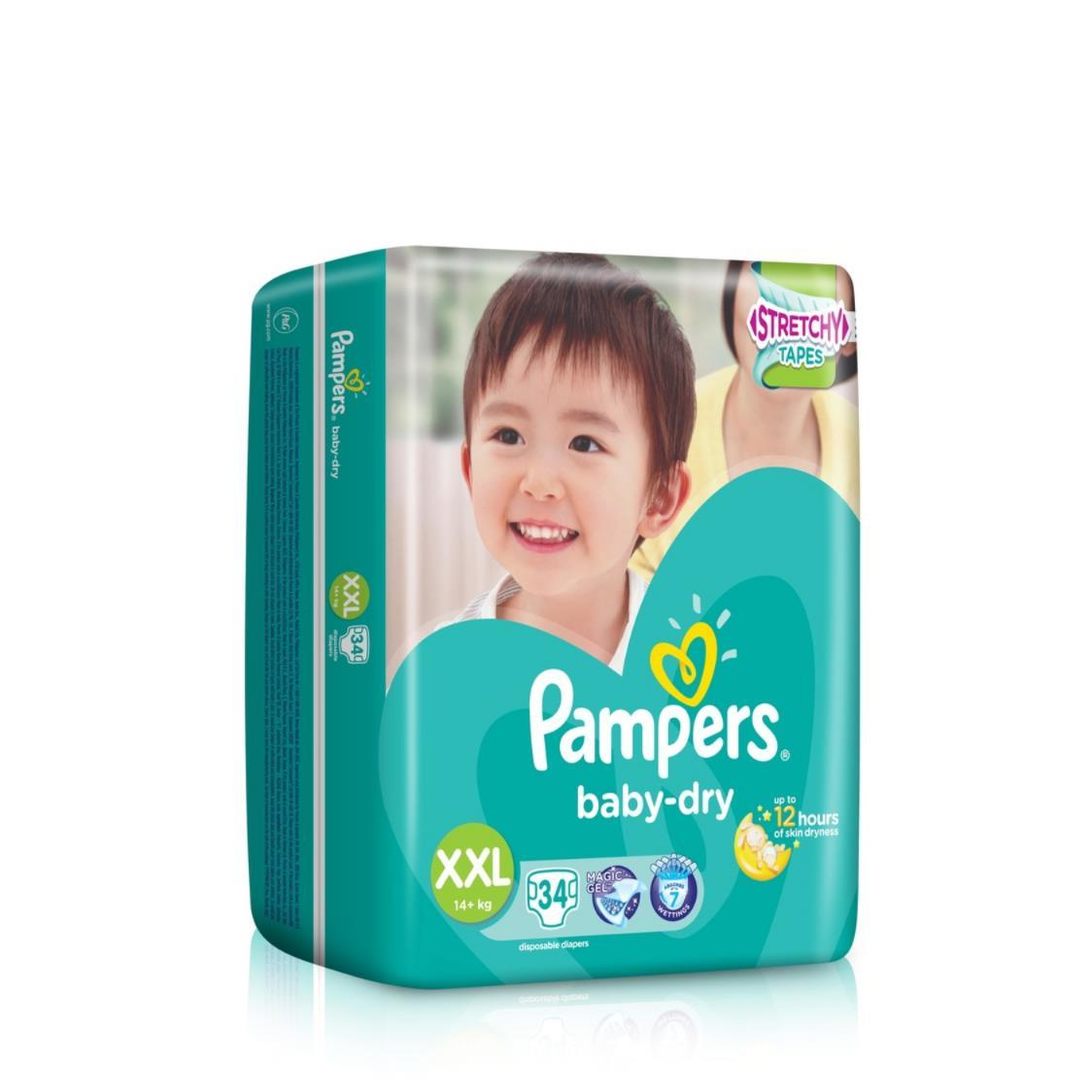 Pampers Baby Dry Diapers  XXL 34s 16kg