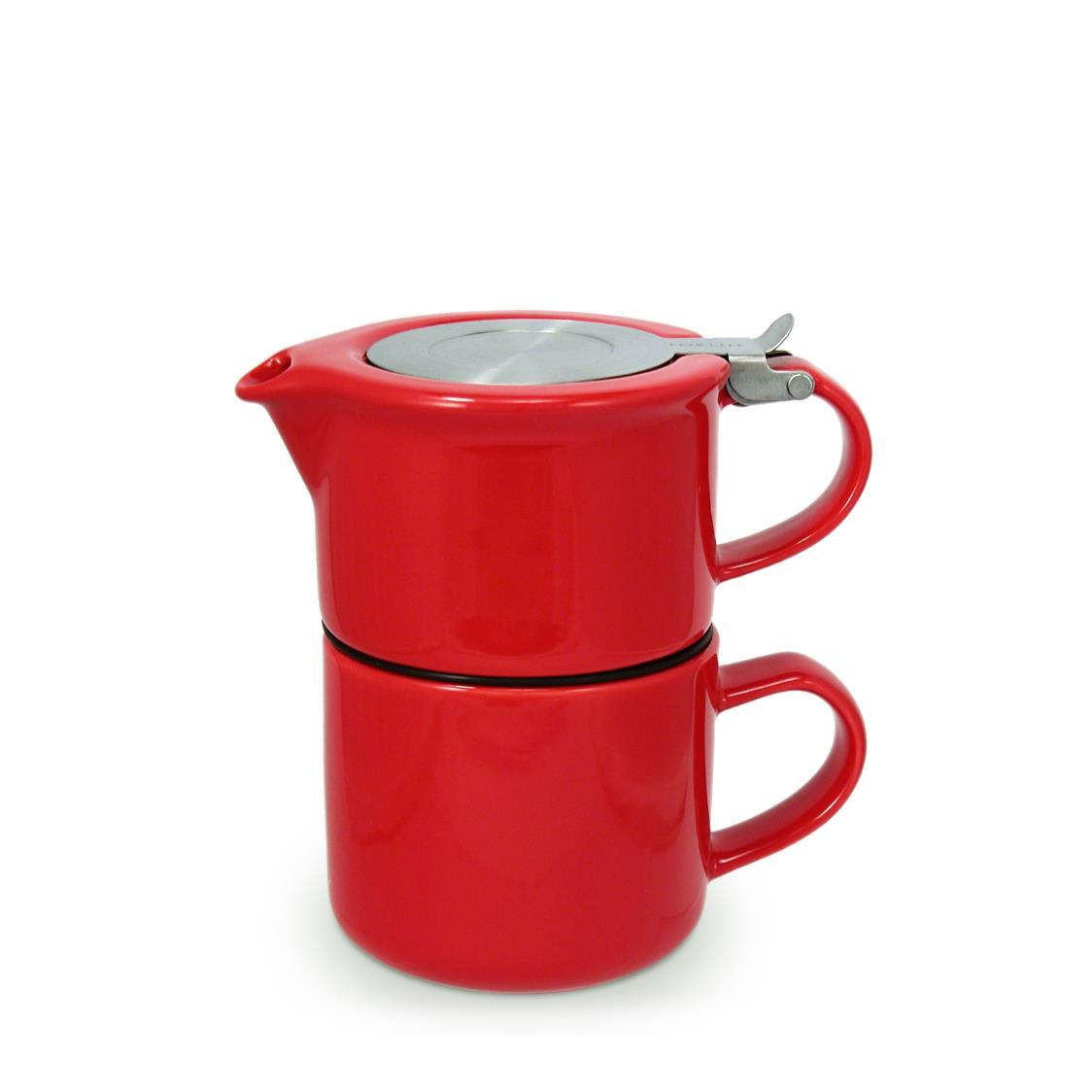 Tea for One with Infuser 414ml FL347-RED