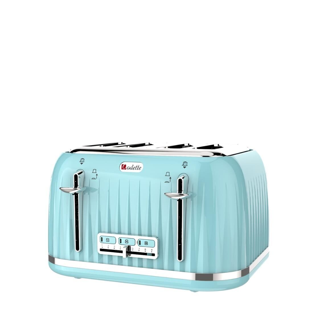 4 Slice Retro Design Toaster Mint