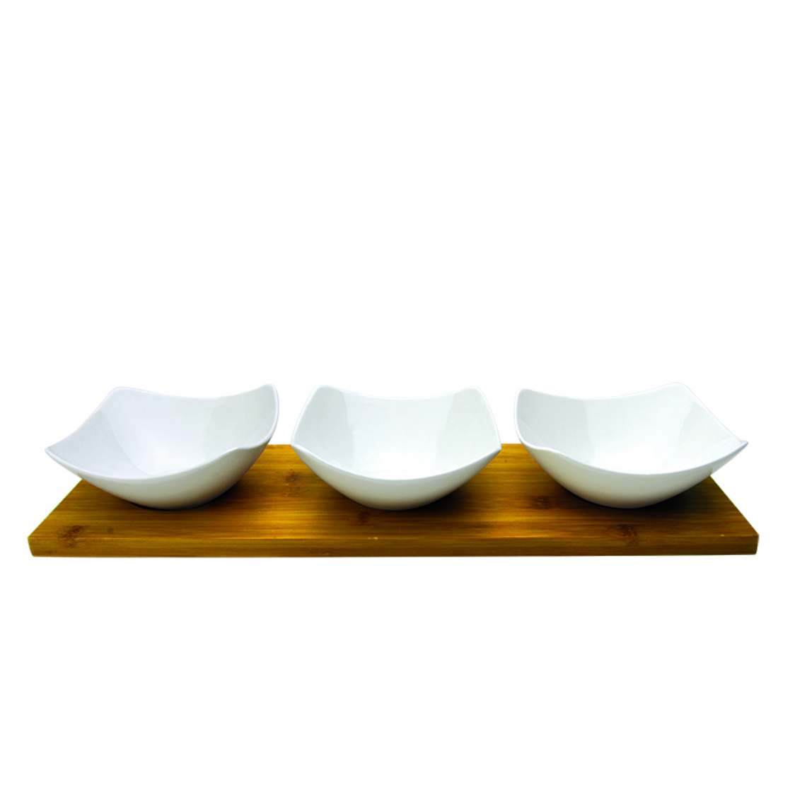 Orchestra 3 Condiment Bowls On Bamboo Base SR-53