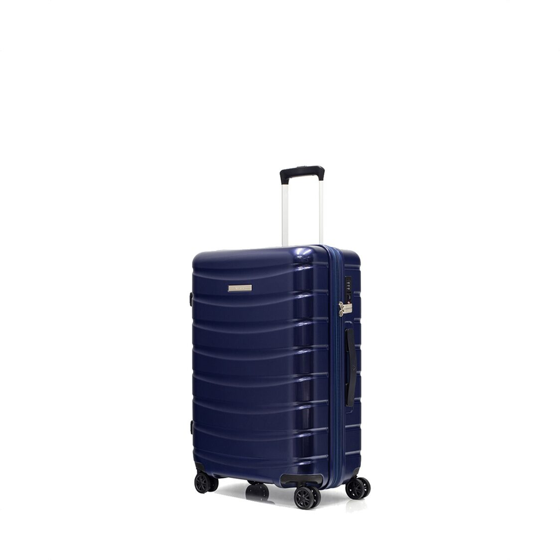 Palermo 8 Wheel Expandable Polycarbonate Hard Spinner Blue