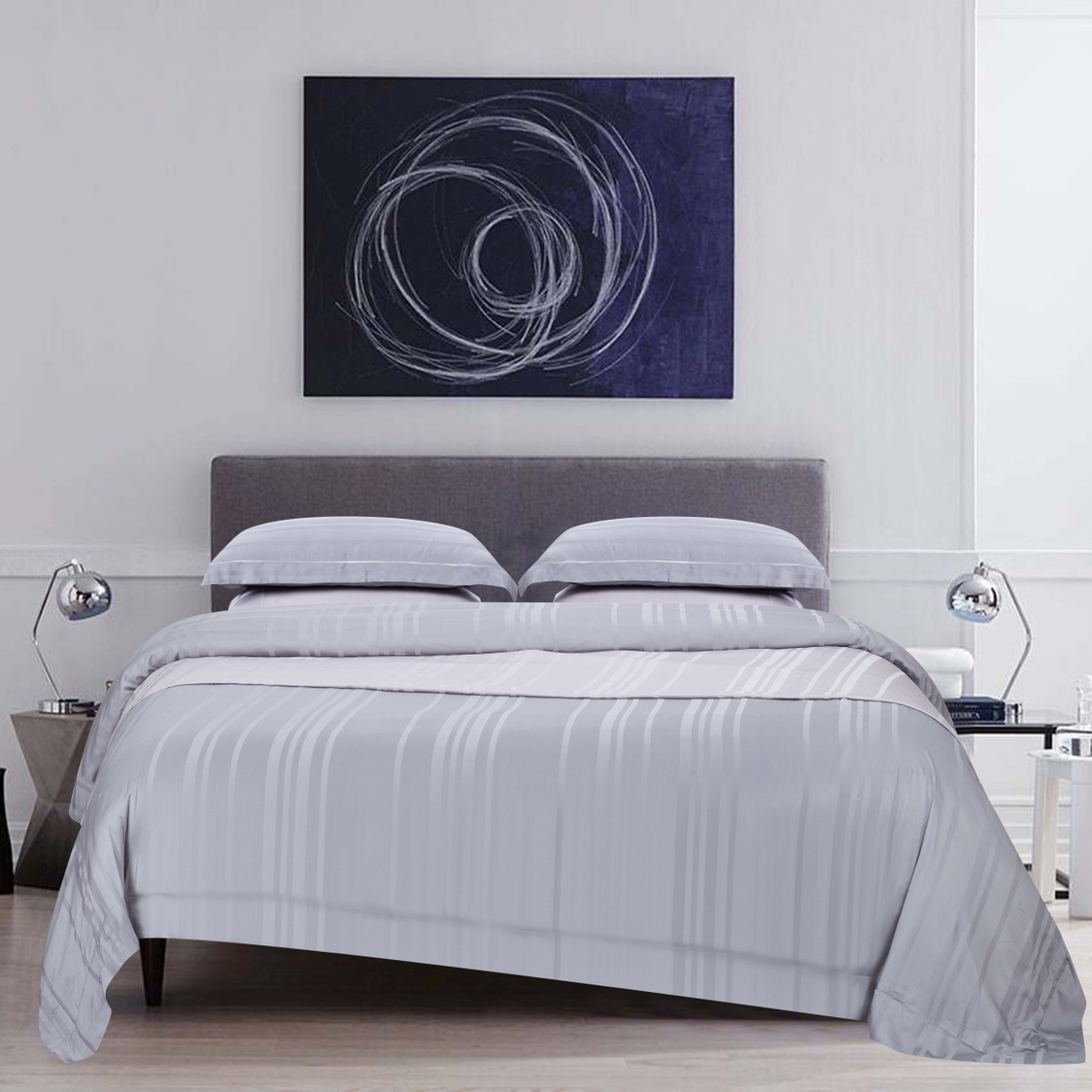 Bamboo Pro Dobby BedSet Frost Grey
