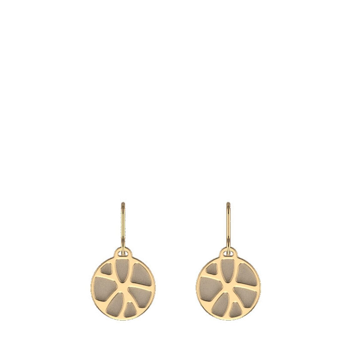 Nenuphar Sleeper Earrings16mm Gold Finishing Cream  Gold Glitter