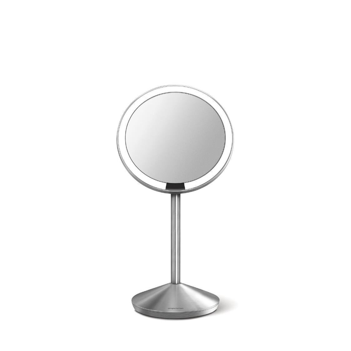 Mini Sensor Mirror 5 Round Brushed