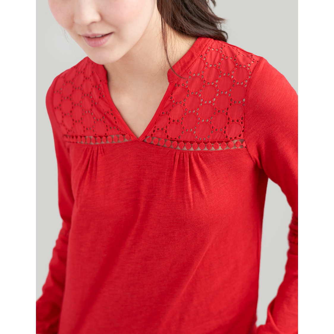 Dolly Woven and Jersey mix top