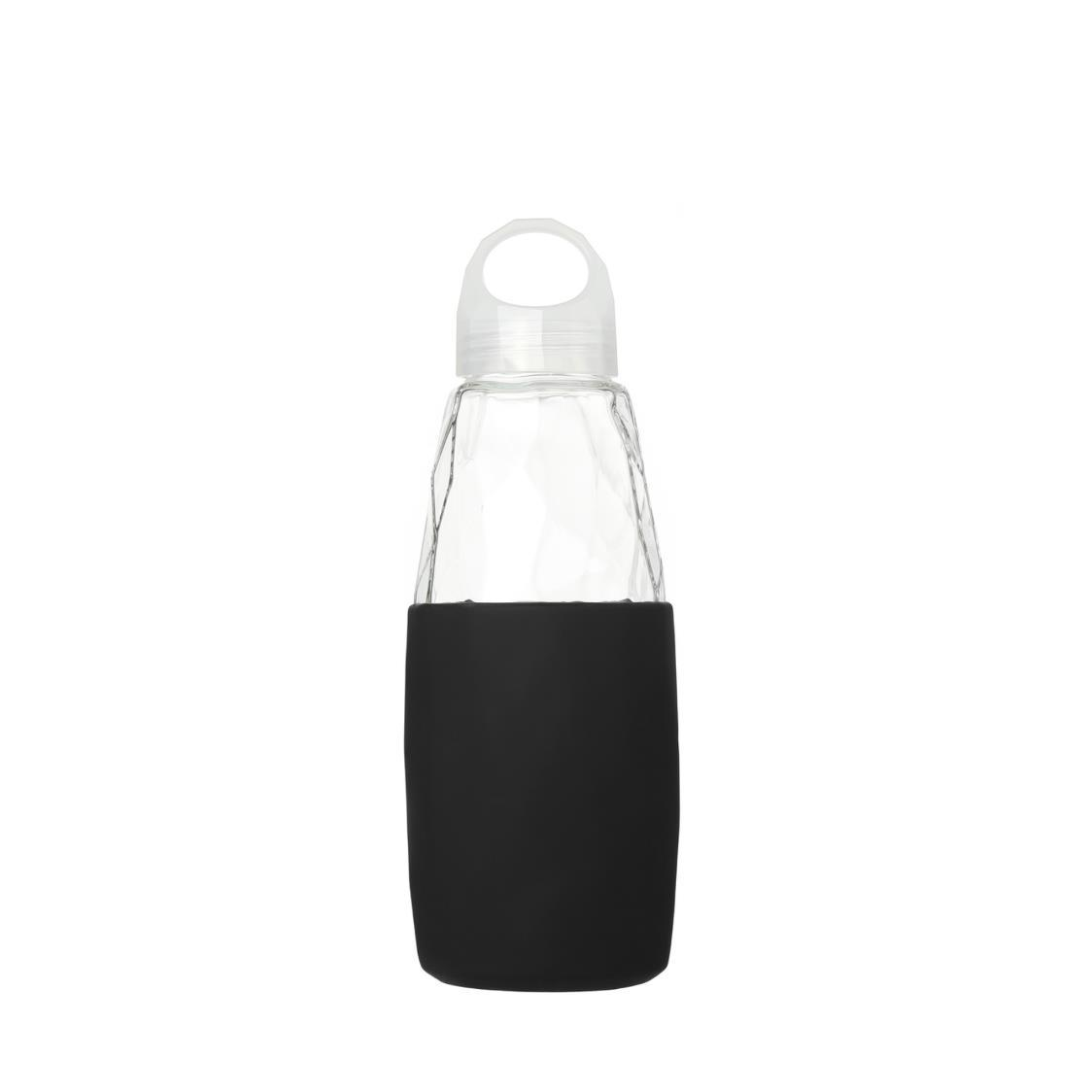 Prism Glass Water Bottle Black 560ml