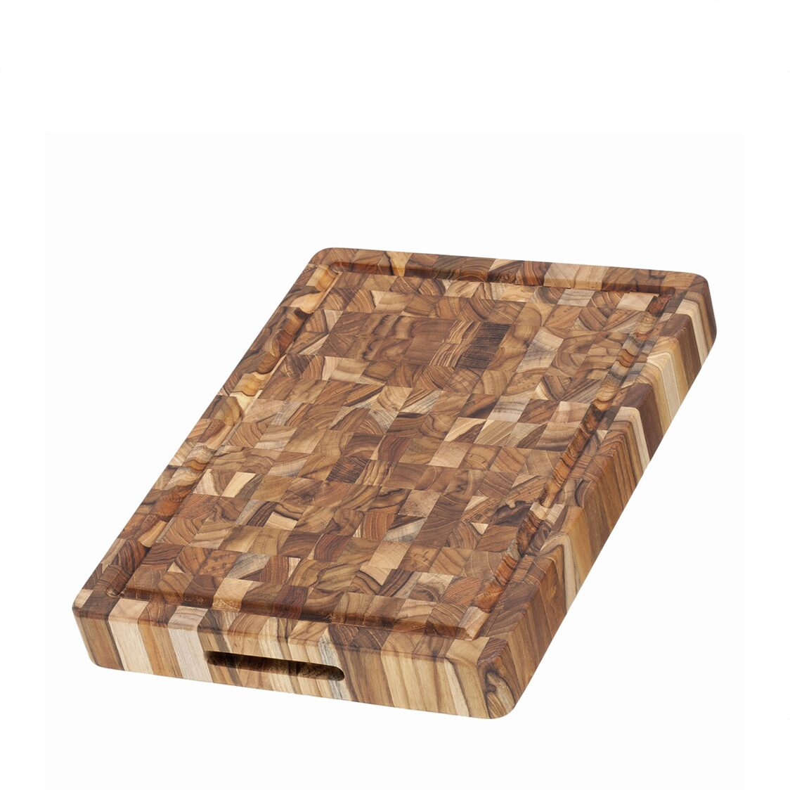 Butcher Block Rectangle With Hand Grip And Juice Canal 309