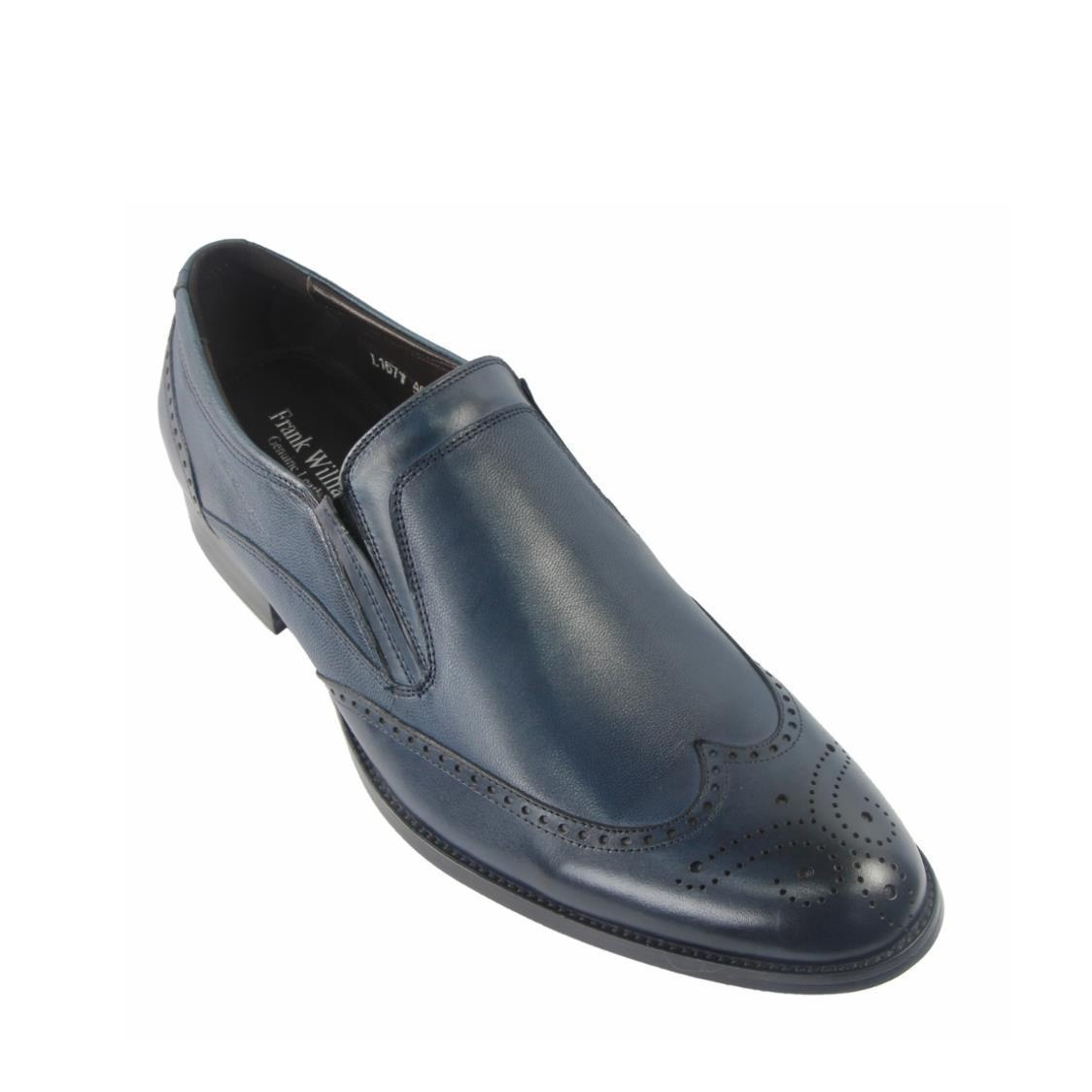 Men Wingtip Slip-Ons in Blue