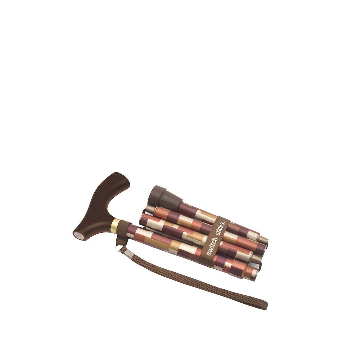 Patterned Maple Foldable Designer Walking Stick Premium Range