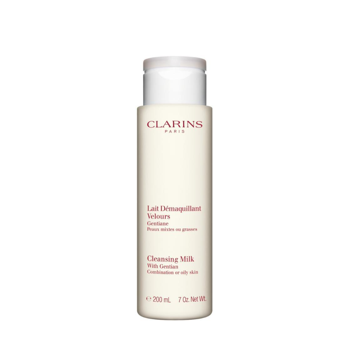 Clarins Cleansing Milk with Gentian Combination or Oily Skin 200ml