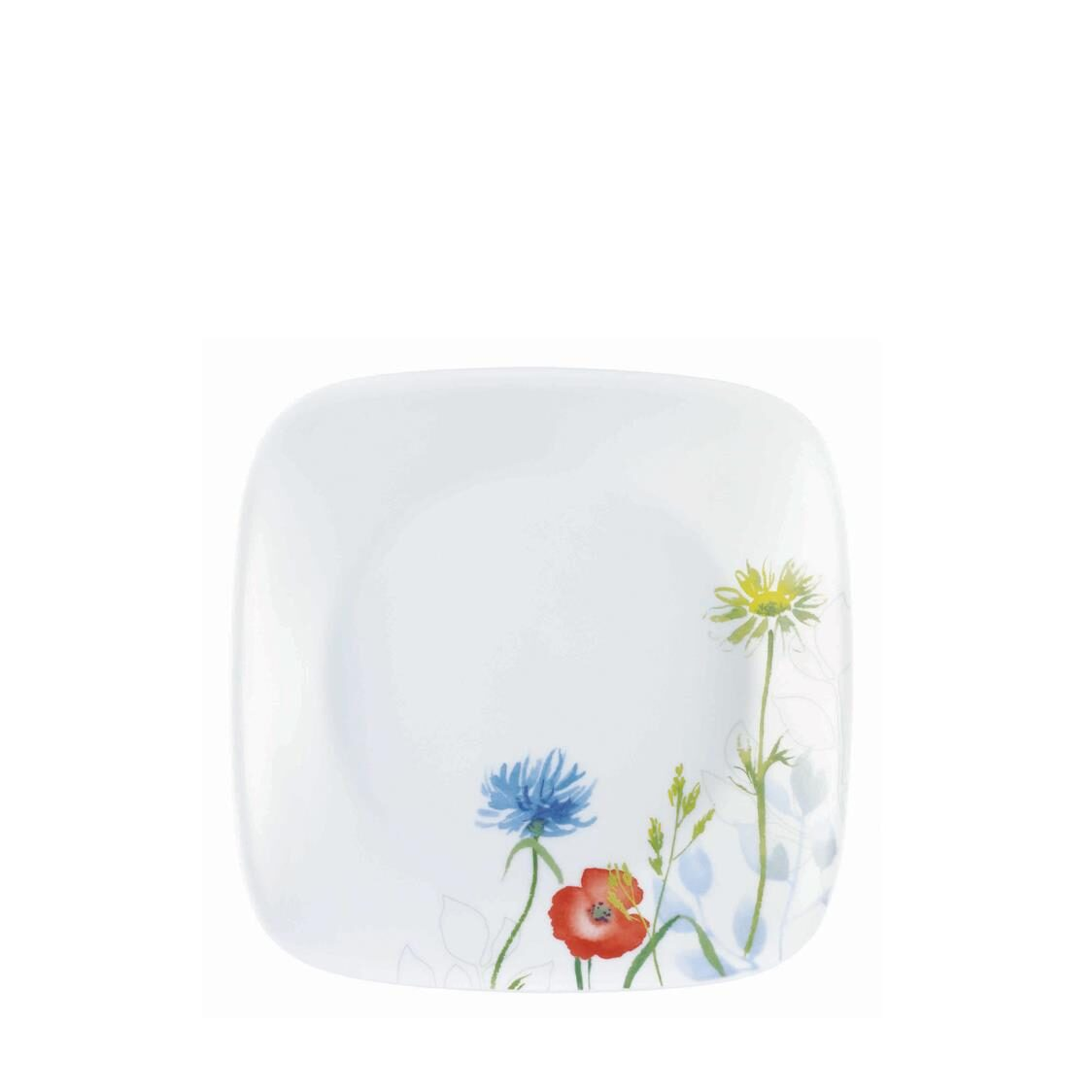 Square Round Bread  Butter Plate Daisy Field