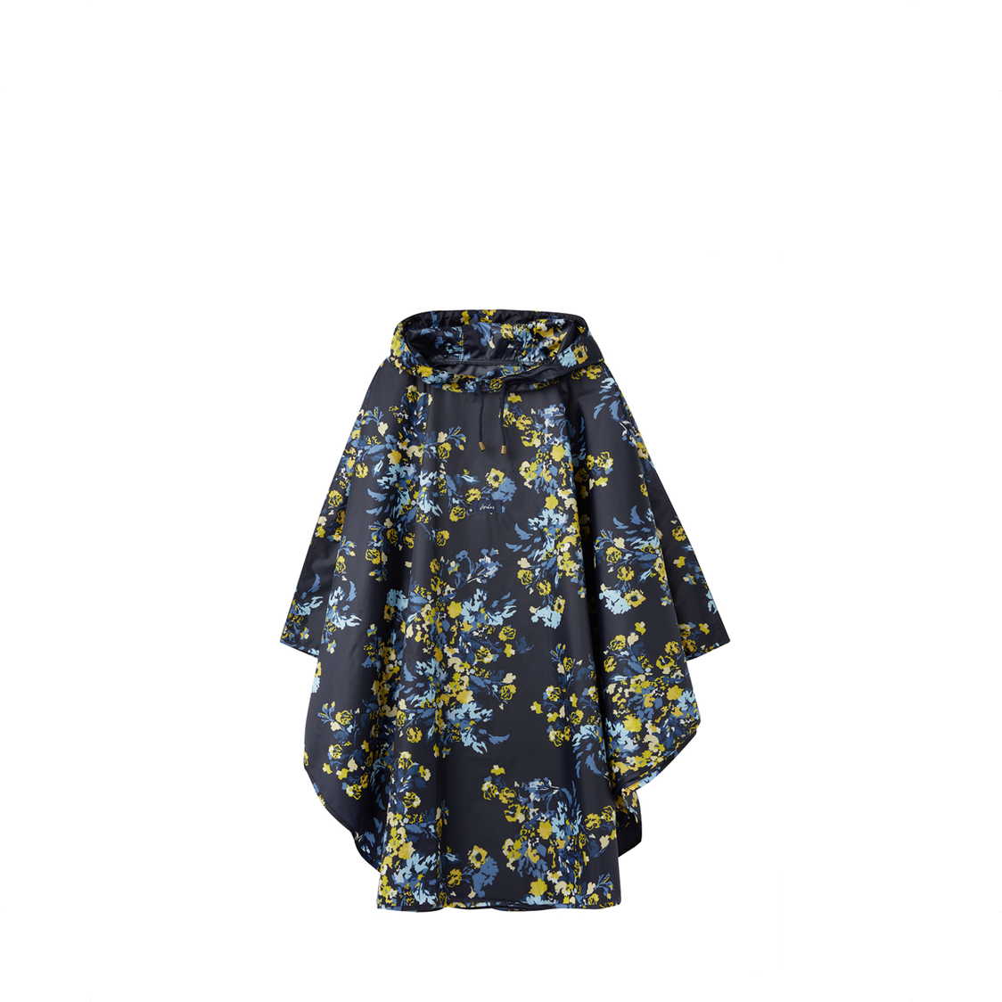 Tom Joule Poncho Showerproof Cover Up Navy Gold Floral