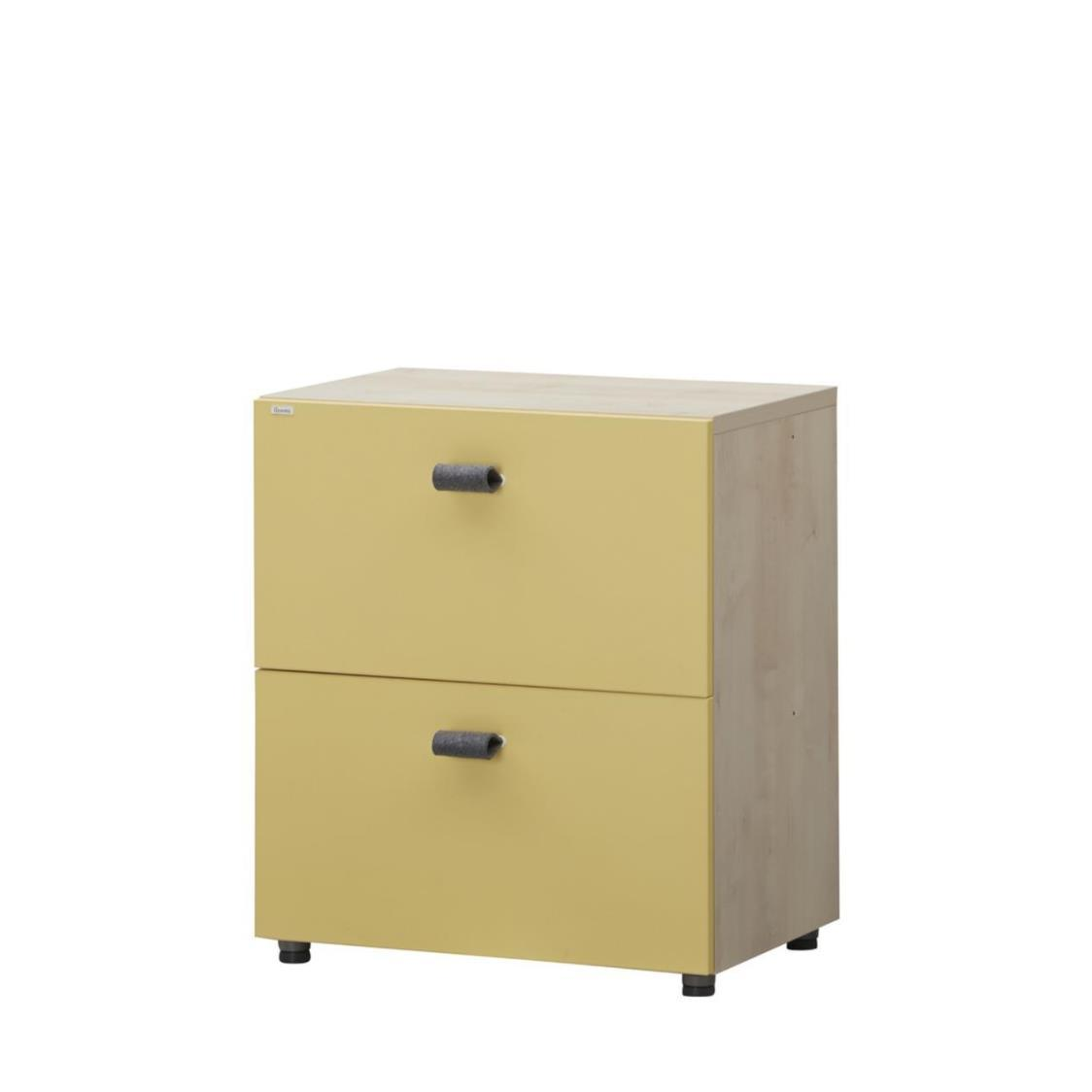 Herbie 600W 2 Level Drawer MLFY Maple Fancy Yellow