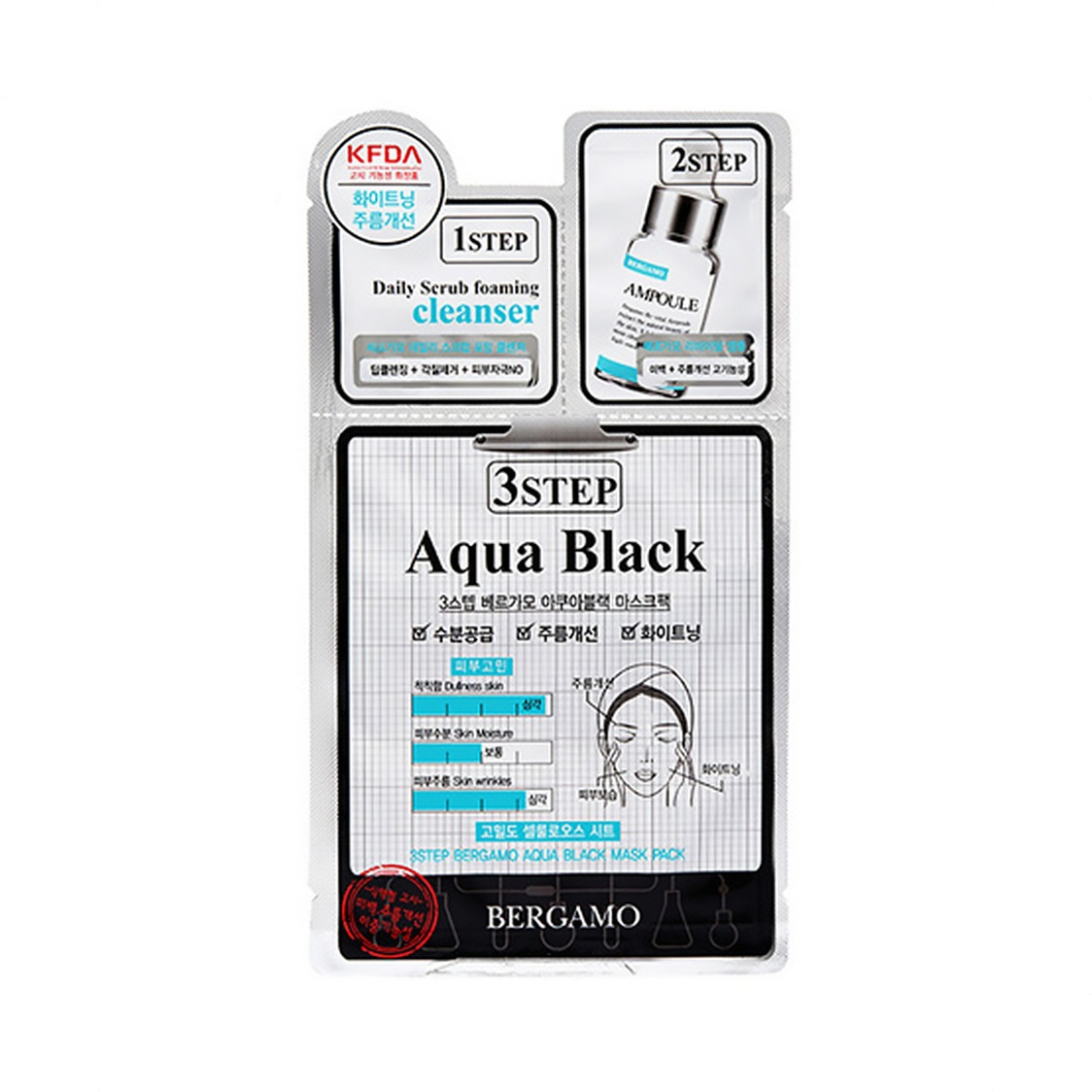 3 Step Mask - Black Aqua 28ml