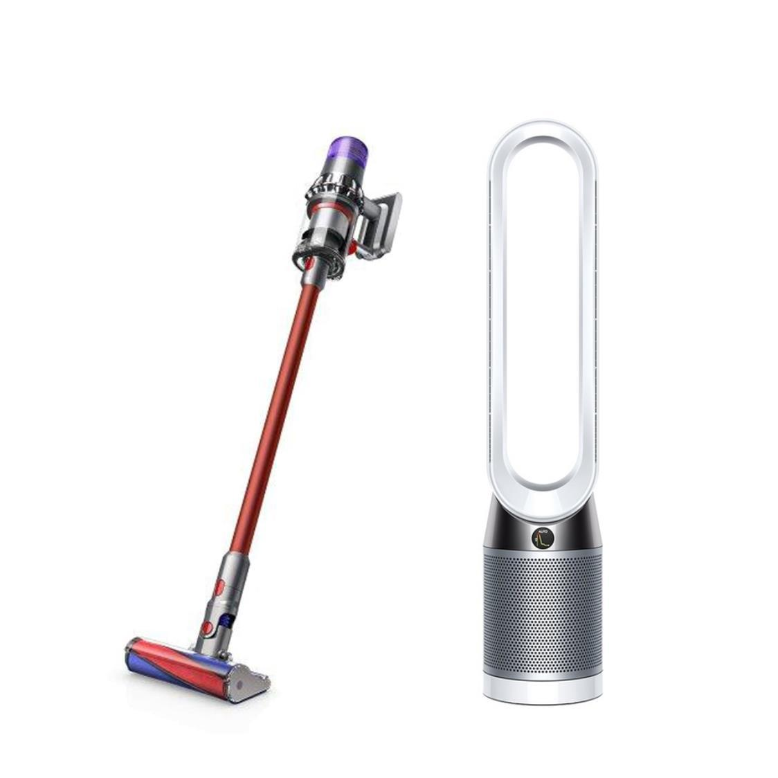 Dyson V11 Fluffy and Pure Cool Purifying Tower Fan TP04 WhiteSilver Bundle