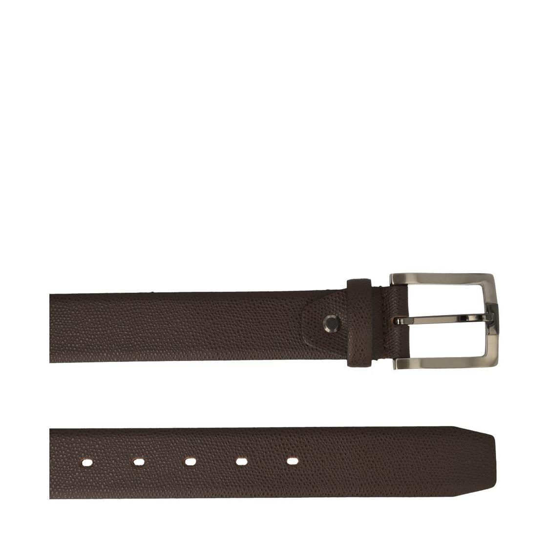 Leather Belt In Dark Brown
