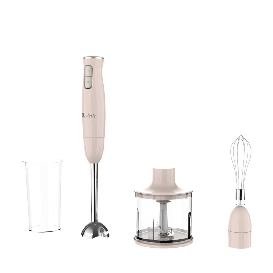 2 Speed Handheld Blender With Chopper And Whisk Pink HB976BL
