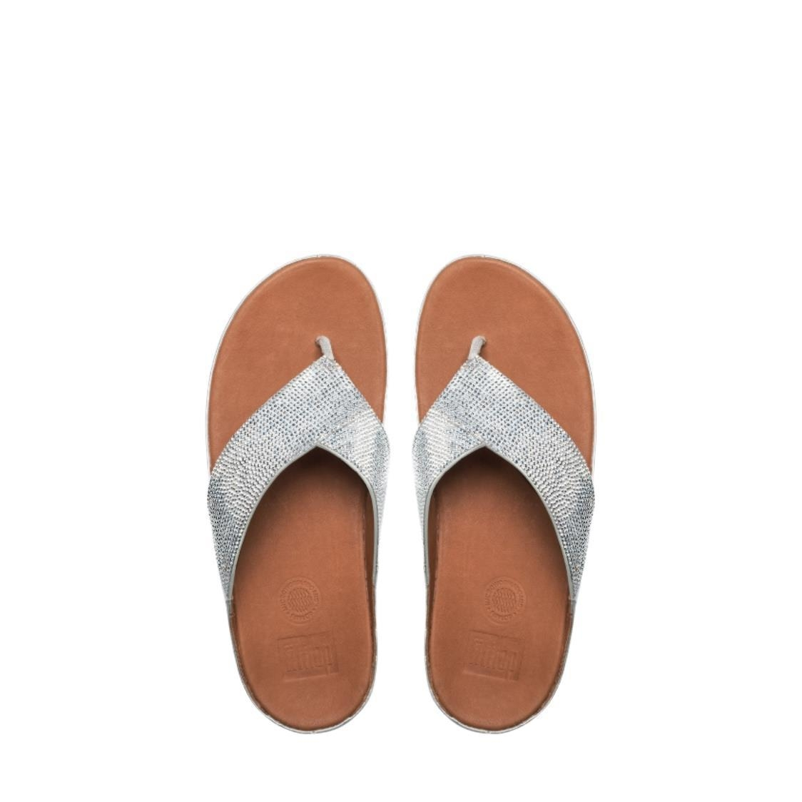 Crystall Toe-Thong Sandals Silver