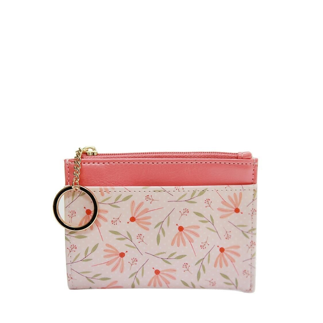 Willow Ver4 Keyring Card Wallet Coral Flower