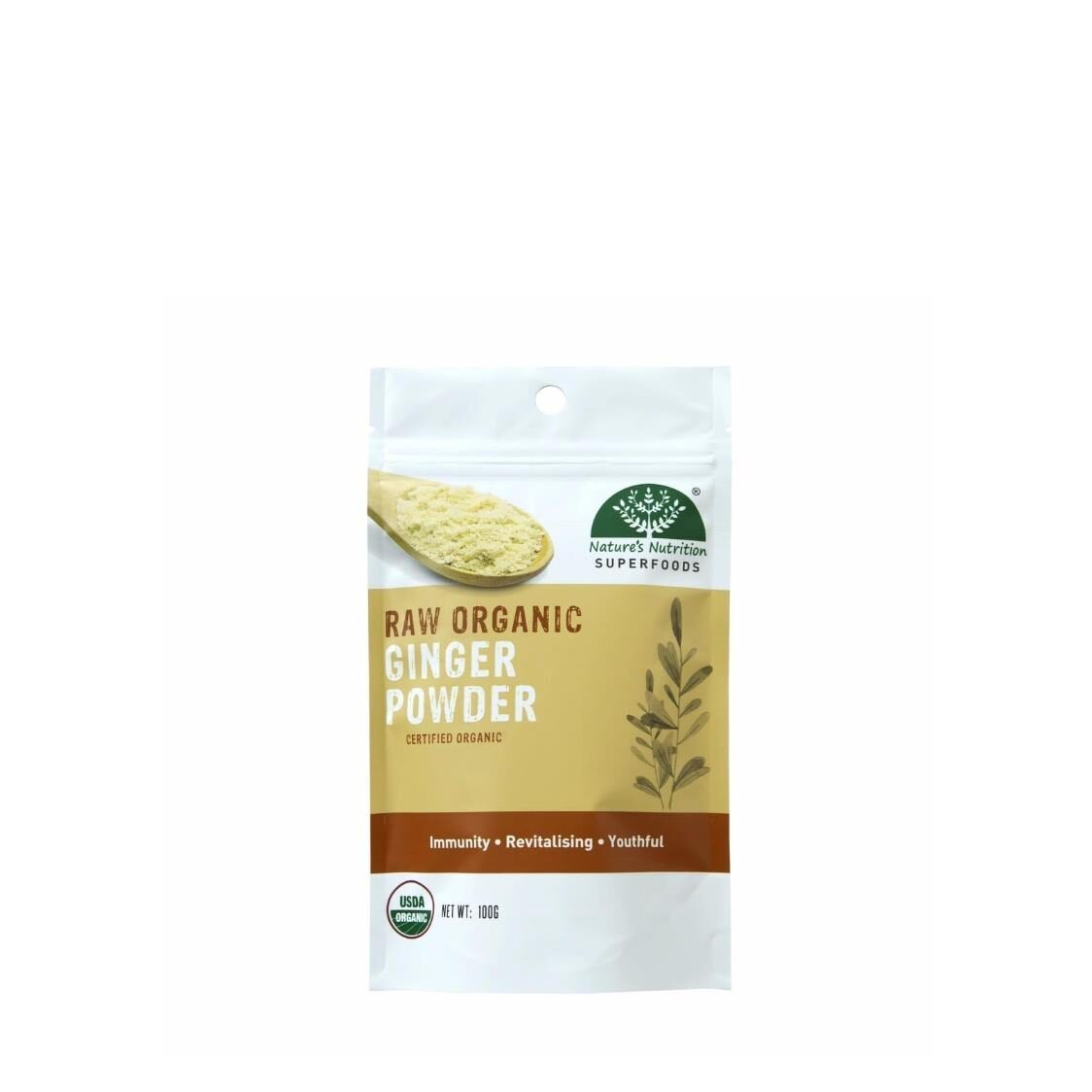 Natures Nutrition Organic Ginger Powder 100g