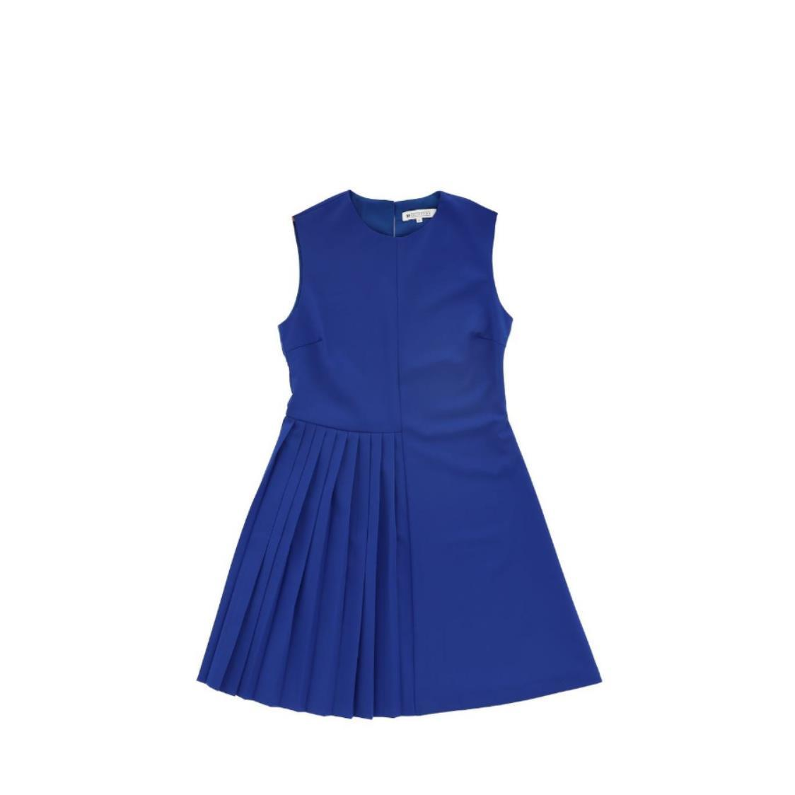 Pleated Detail Dress Royal Blue