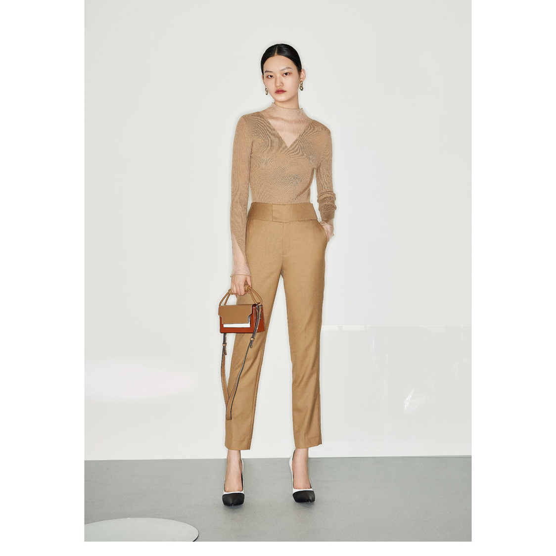 Lily Tailored Trousers Brown