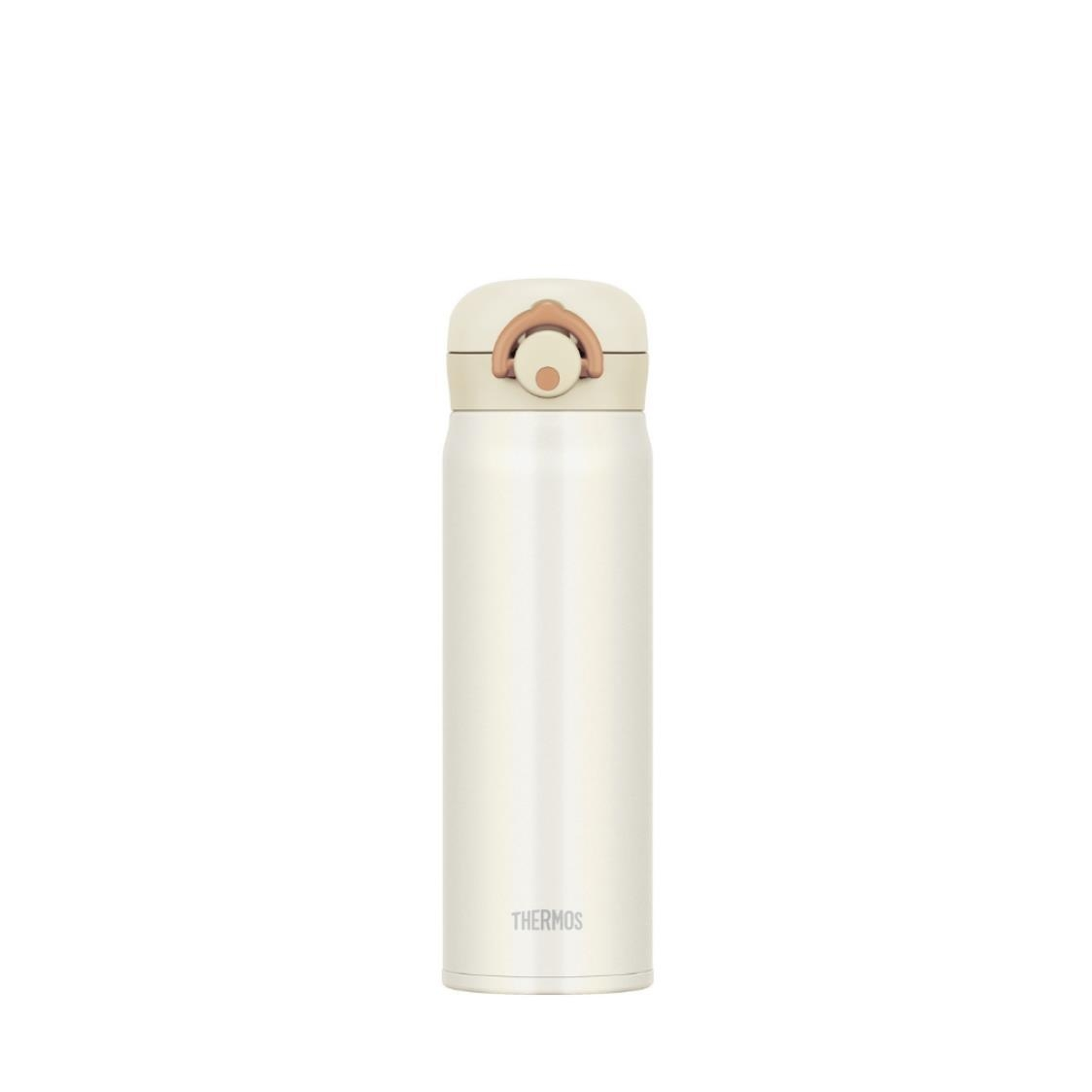 One Push Tumbler With Local Design Stickers 05L Cream White
