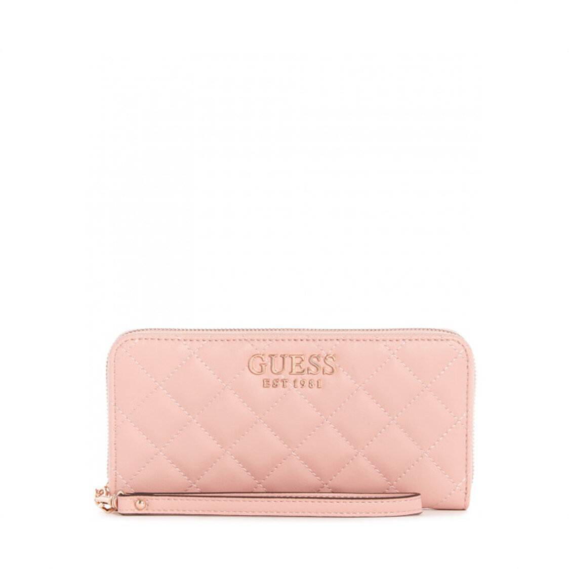 Melise Small Leather Goods Large Zip Around Rose