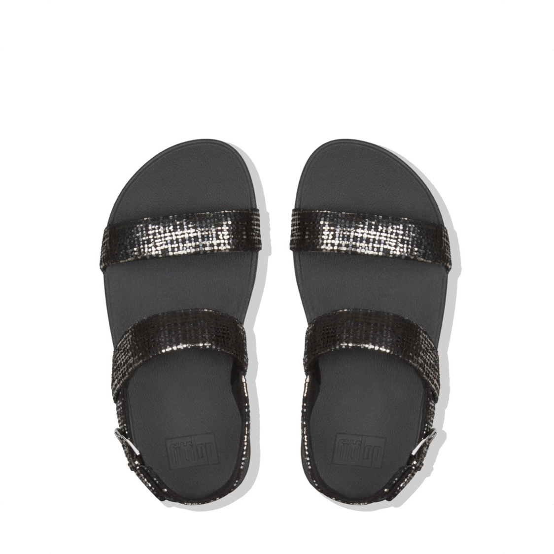 Lottie Chain Print Sandal Black