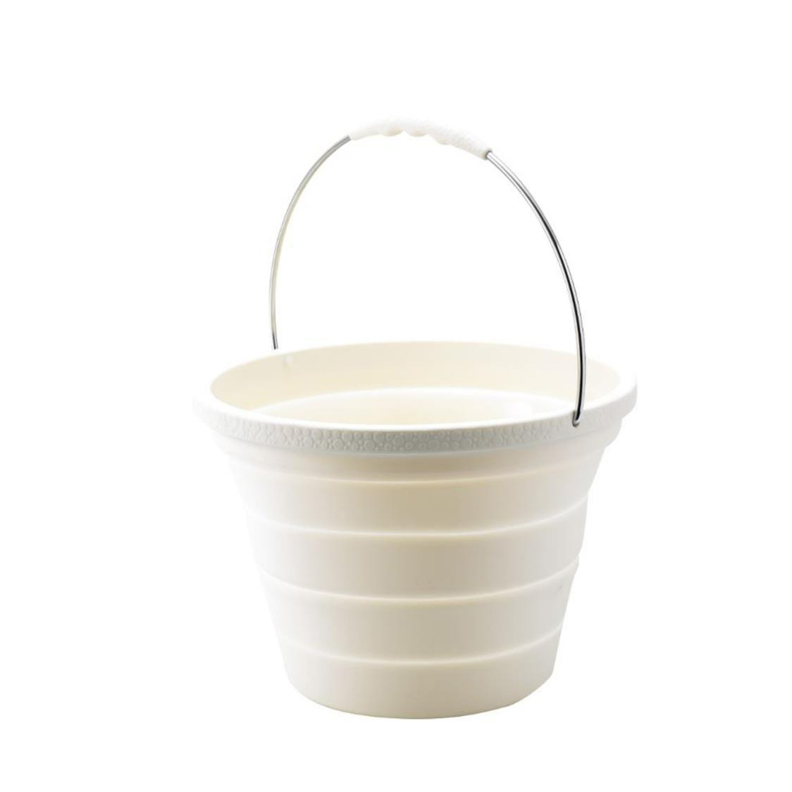 Foldable Bucket Beige