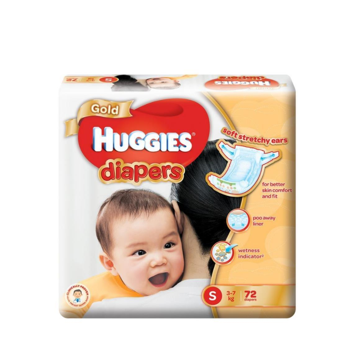 Huggies Gold S 72s