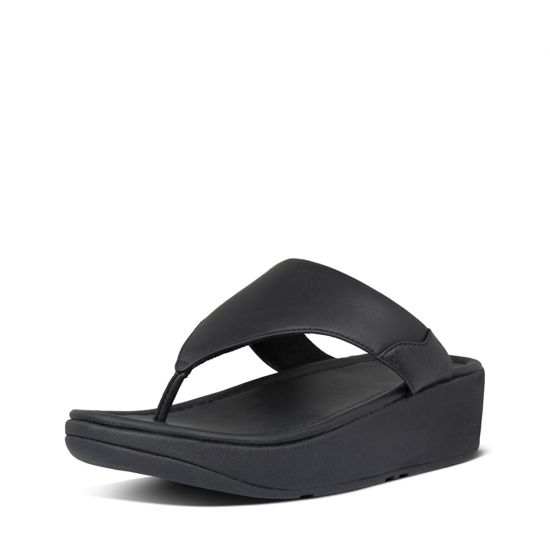 Fitflop Myla Leather Toe-Thongs All Black