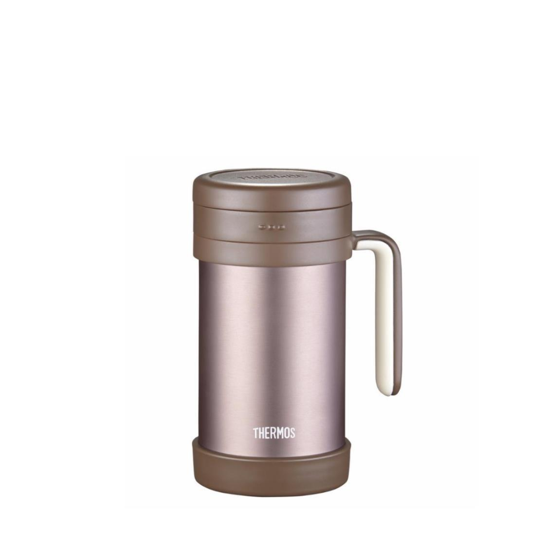 Stainless Steel Mug with Handle and Strainer Brown 500ml