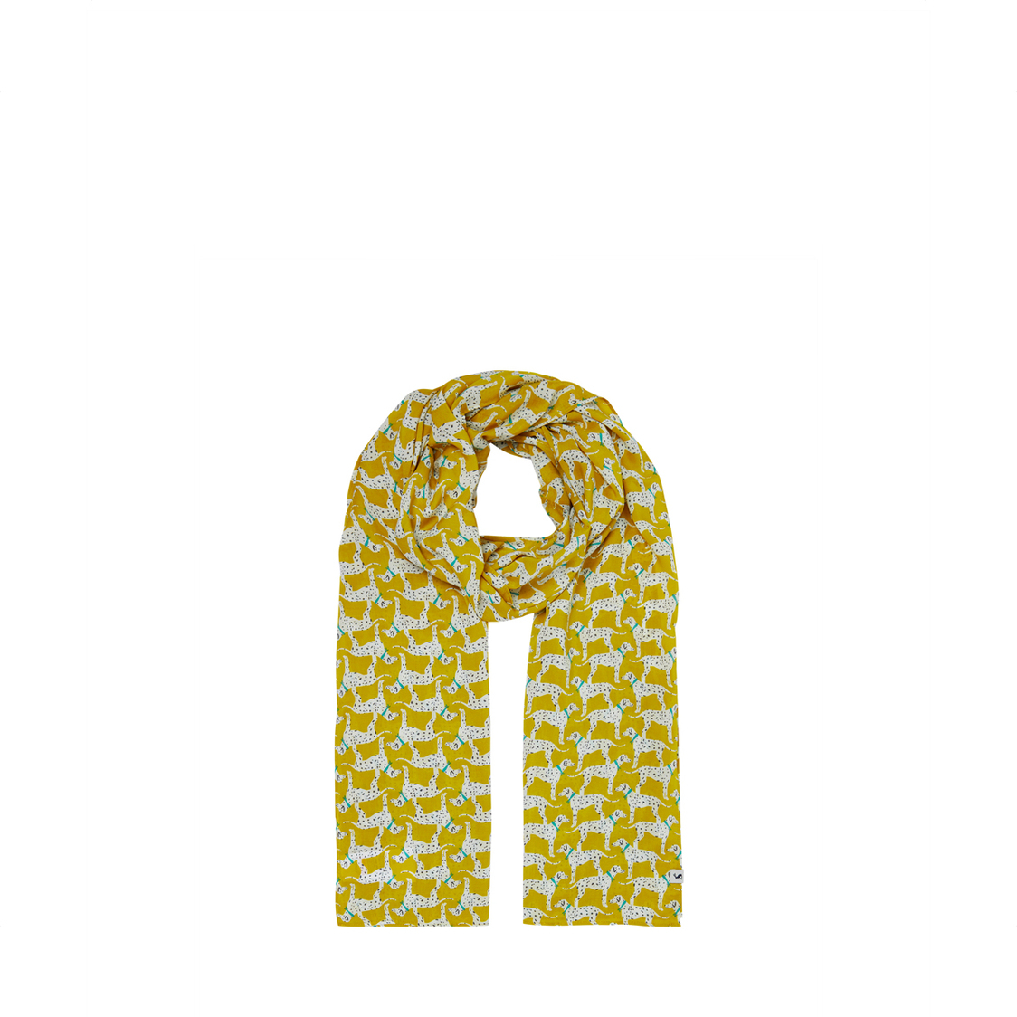 Tom Joule Conway Rectangle Scarf Gold Dalmatian