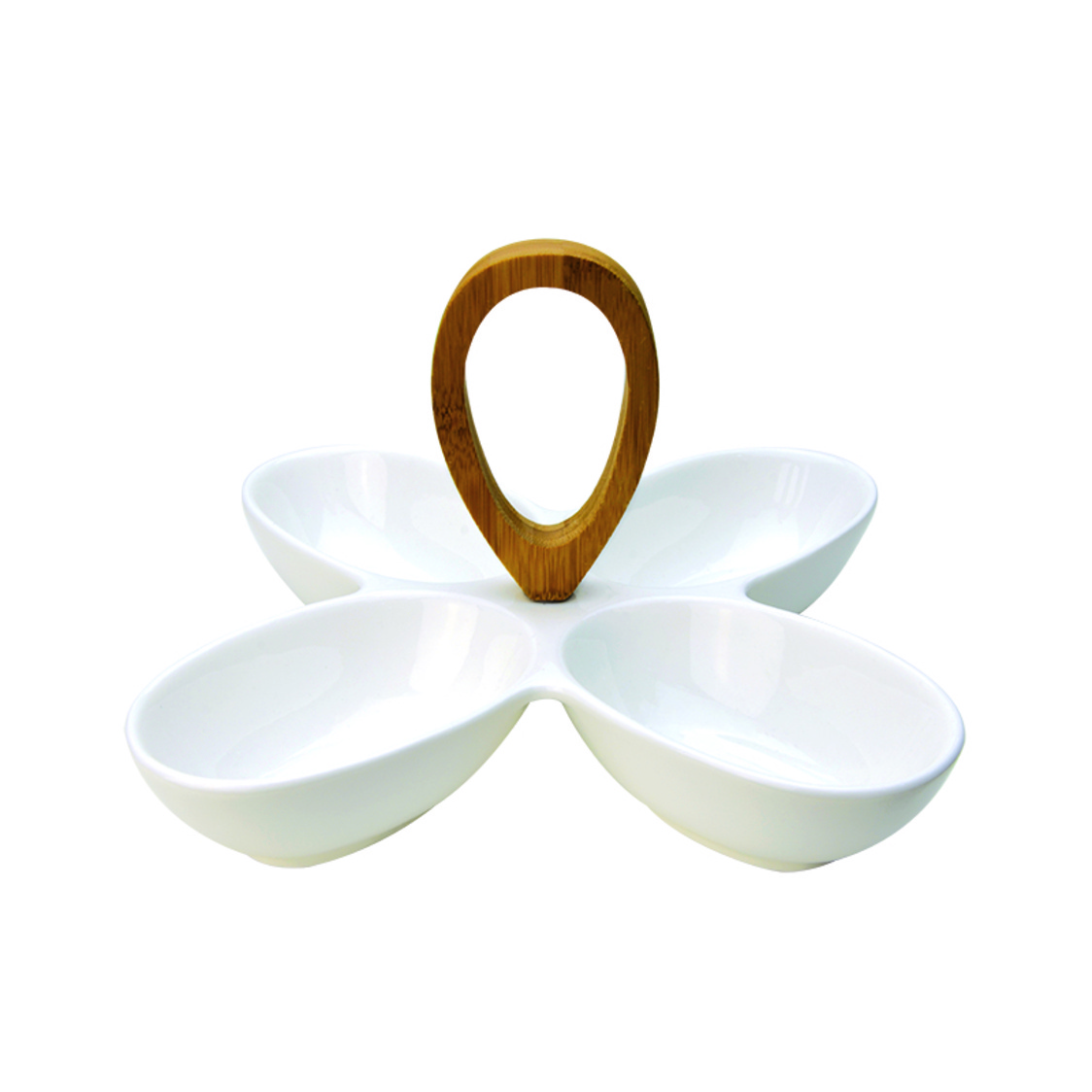 Pistachio 4-Section Snack Bowl With Loop Handle SR-58