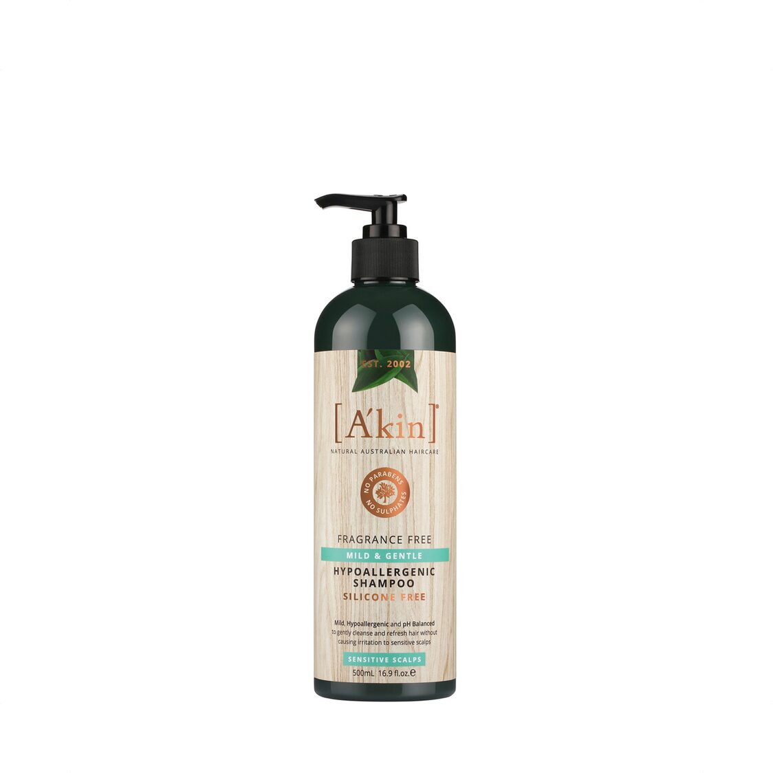 Fragrance Free Mild  Gentle Shampoo 500ml