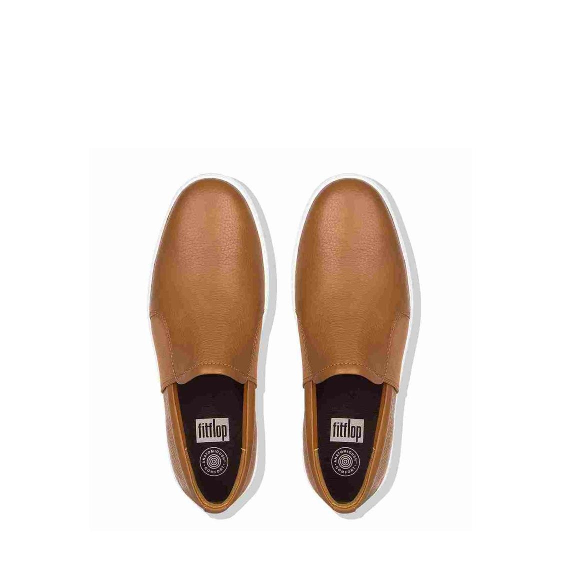 2e4c05c320a Collins™ Leather Slip-On Skate Shoes Light Tan Metro Department Store