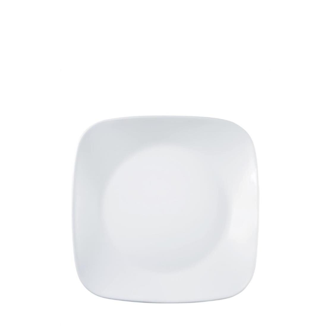 Square Round Luncheon Plate Winter Frost White