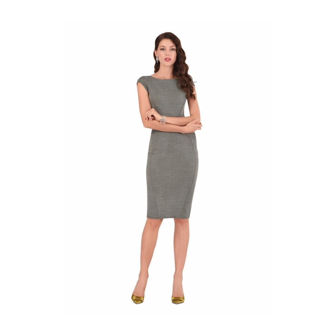 Olive Panelled Bodycon Dress