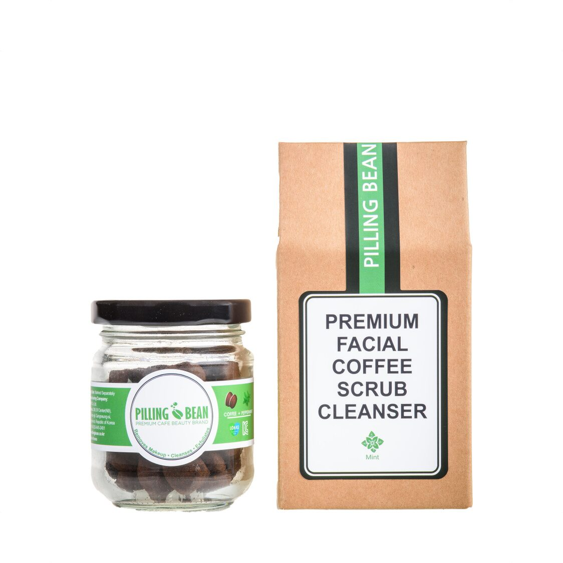 Facial Coffee Scrub Cleanser 50g Mint