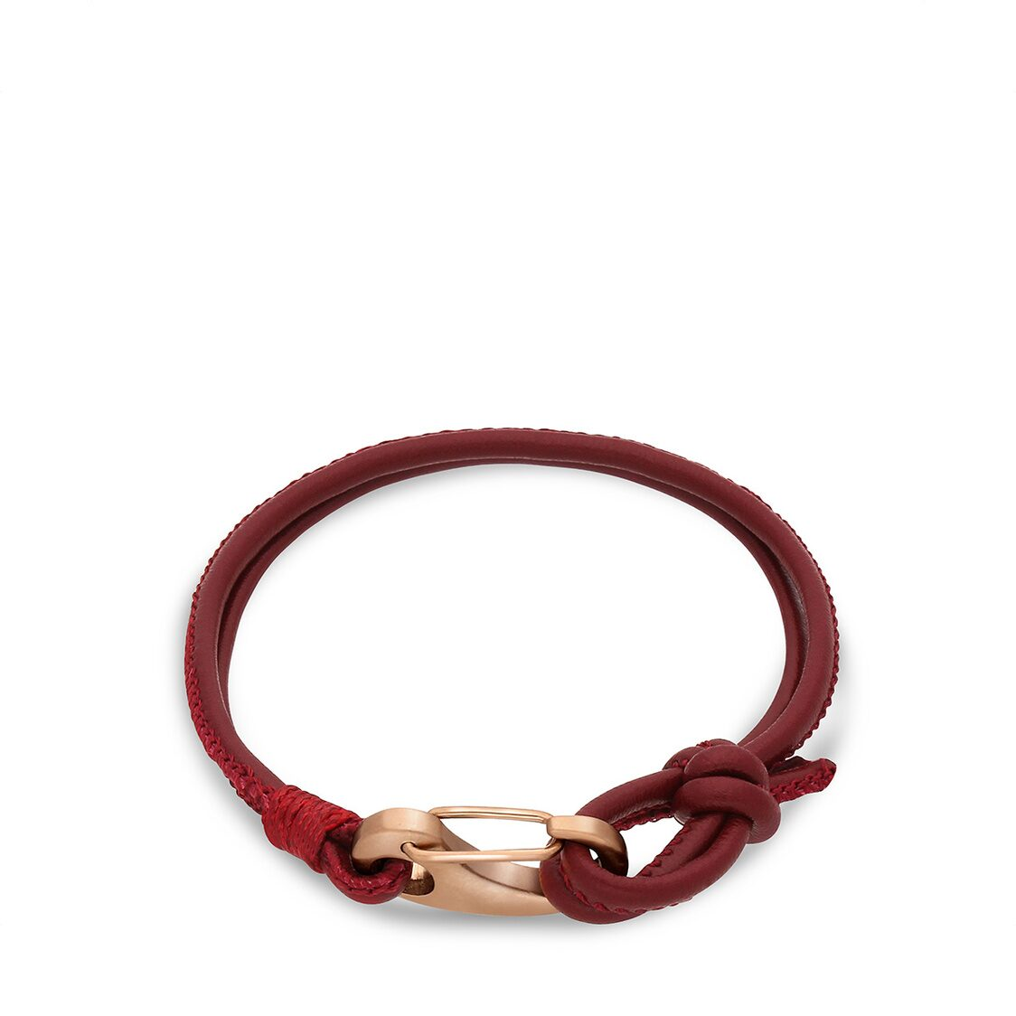 Ron Bracelet - Burgundy Leather