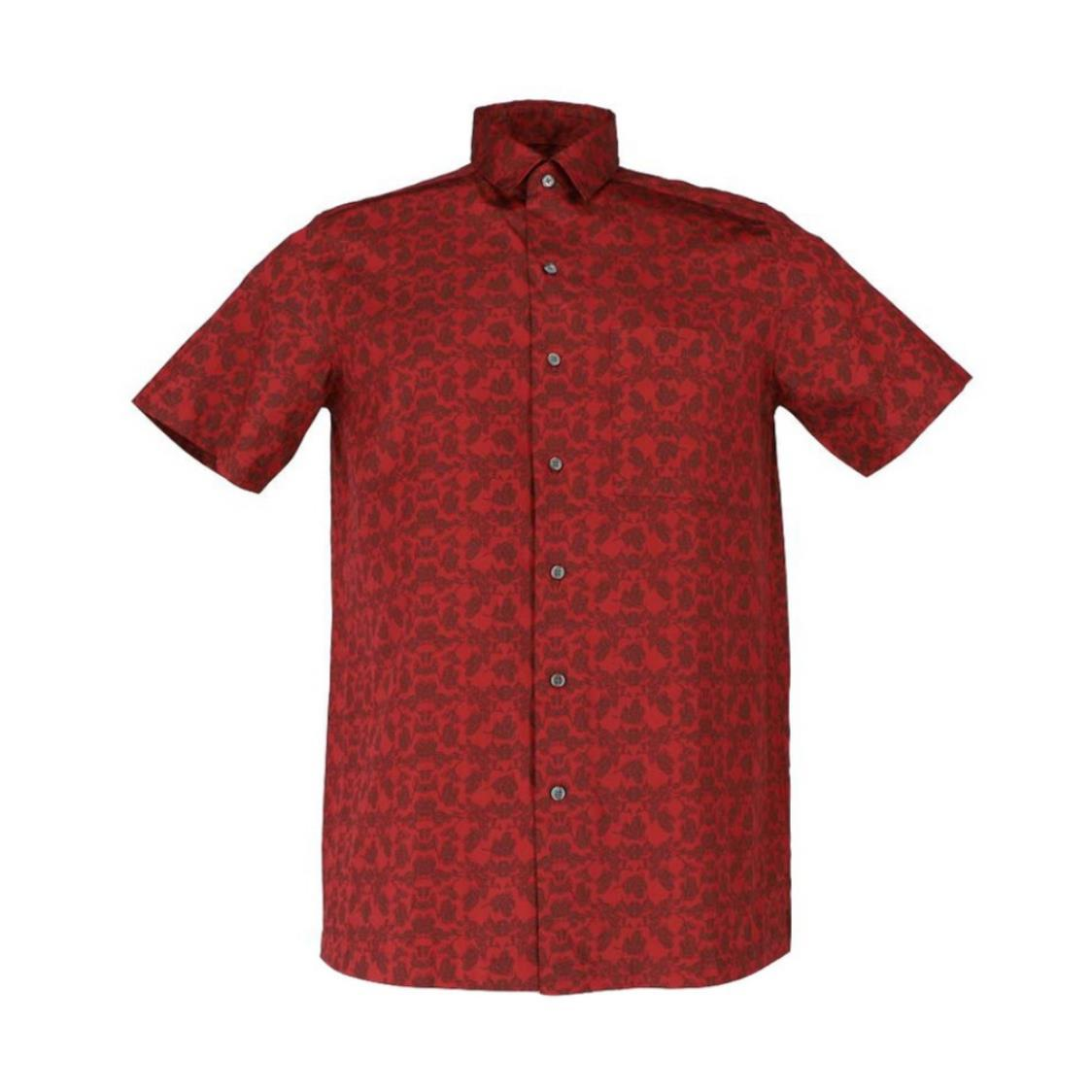 Mens Short Sleeve Printed Classic Fit Shirt