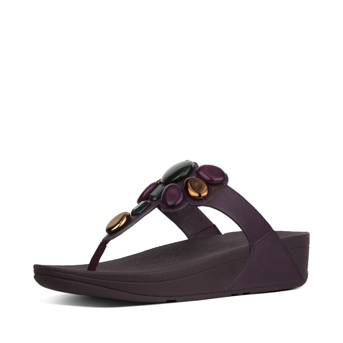 Honeybee Leather Toe-Thong Sandals