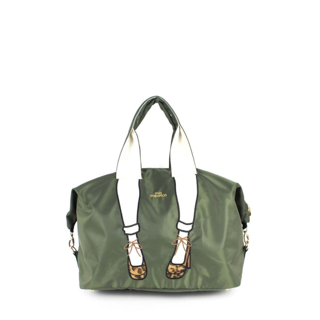 2-Way Use Jeans with High Heels Travel Bag Khaki