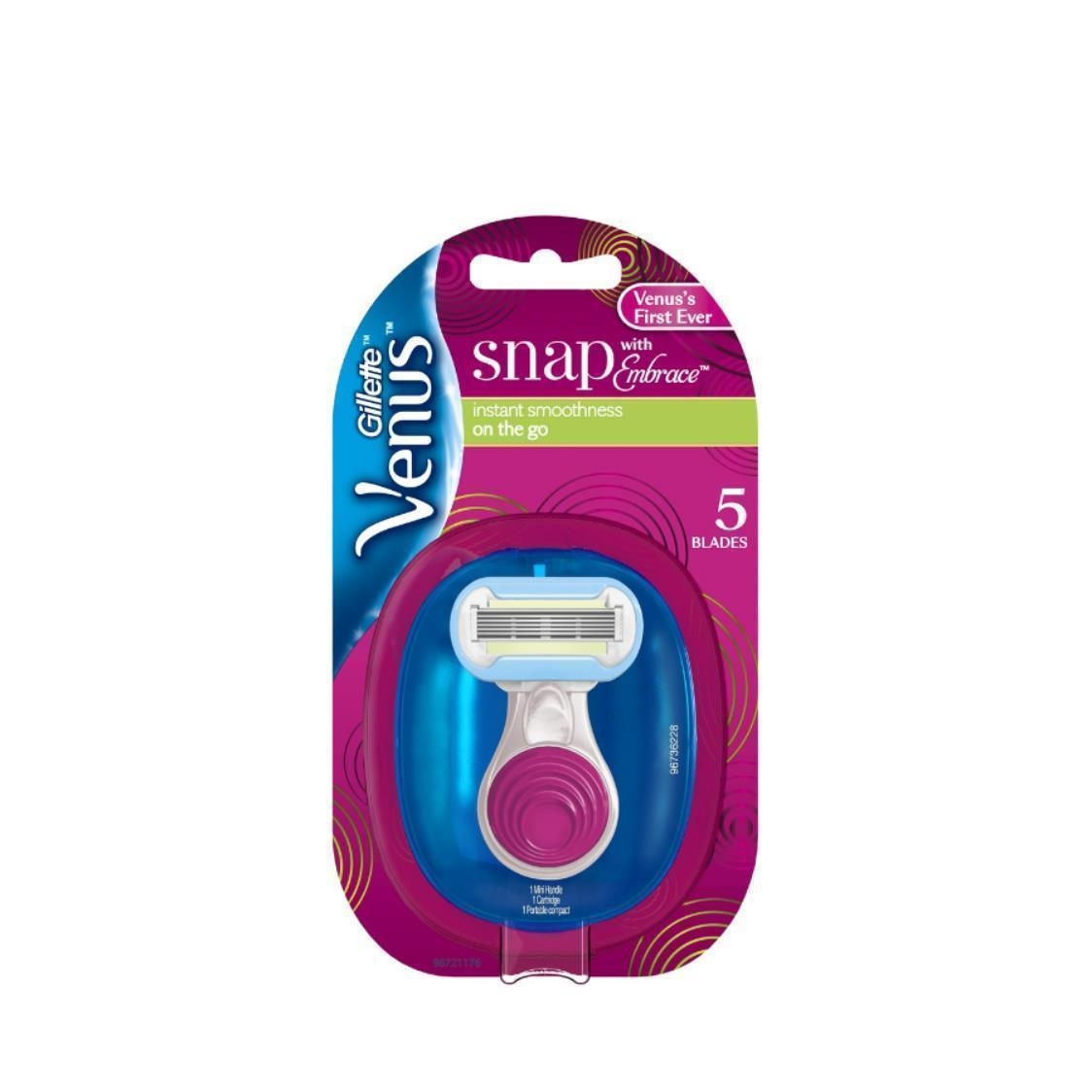 Venus Embrace Snap Razor 1 Count  Refill 1 Count  Portable Compact 1 Count