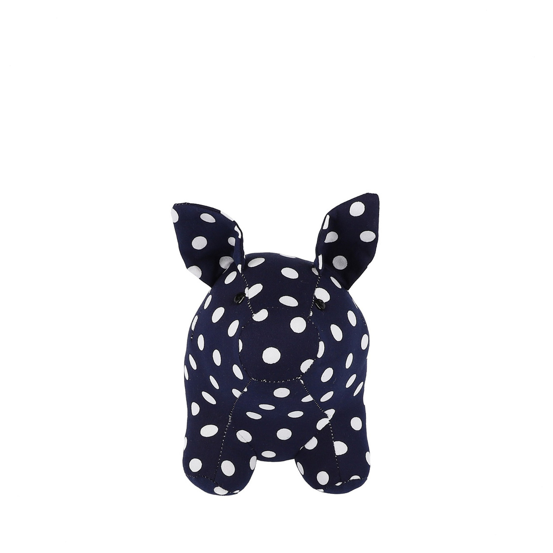 Mascot Pig Decoration in Navy with Polka Dots