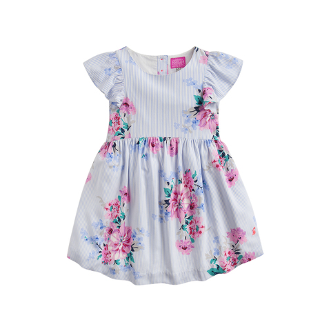 Joules Girls Alice Woven Printed Top Yr in WHITE FAIRY FLORAL