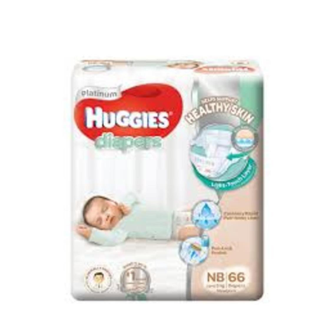 Huggies Platinum New Born 66s