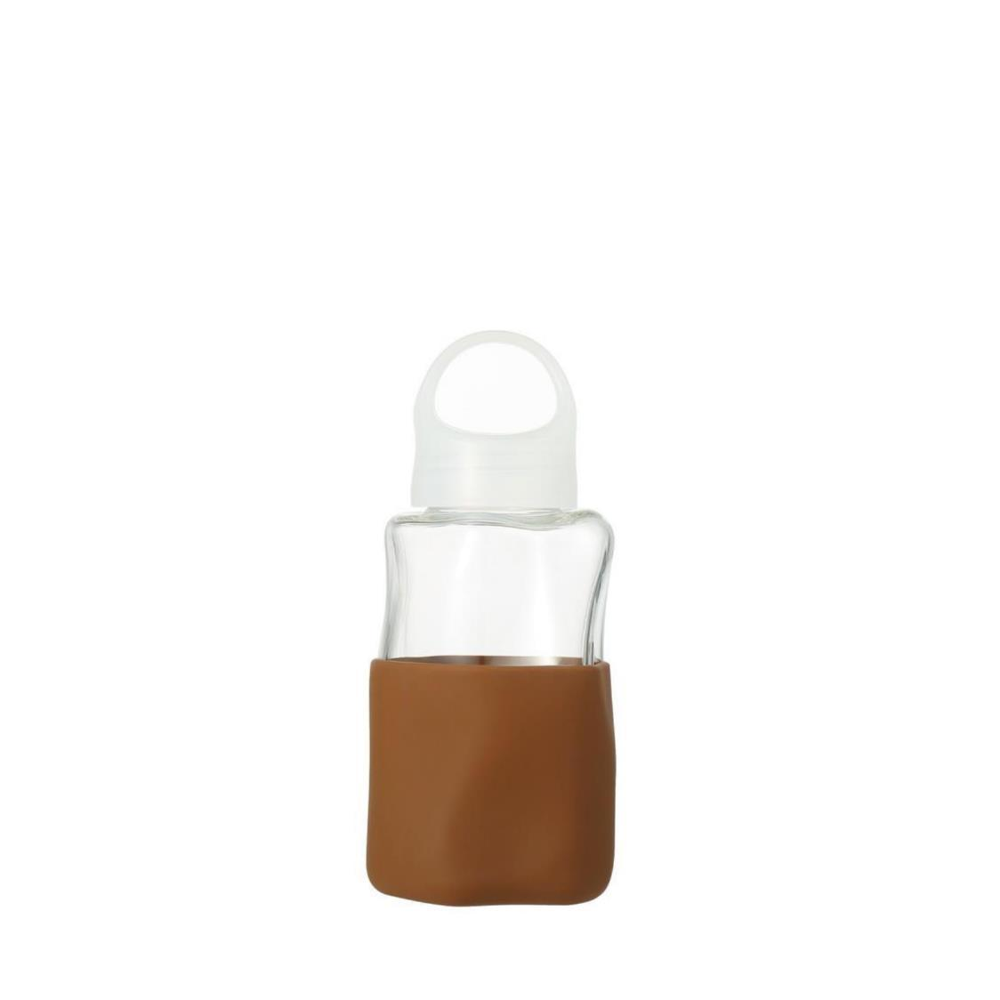 Crater Glass Water Bottle Brown 320ml