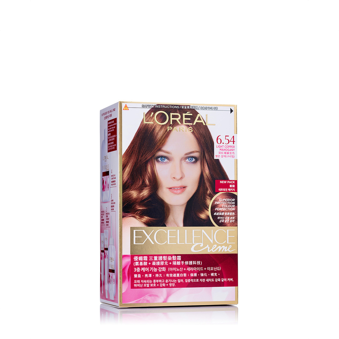 Excellence Ash Mahogany Copper Dark Blonde 654